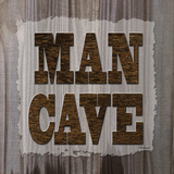 ManCave Wood Sq Posters by Todd Williams