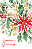 Poinsettia Pine Prints by Sara Berrenson