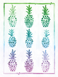 Ombre Pineapple Posters by Ashley Sta Teresa