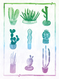Ombre Cactus Posters by Ashley Sta Teresa