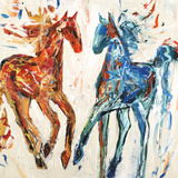 Hot Horse Cool Horse Giclee Print by Jodi Maas