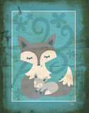 Rustic Woodland Foxes Posters by Woo Teresa
