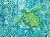 Turtle Batik Plakat af Brent Paul