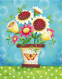 Potted Flowers Prints by Karla Dornacher