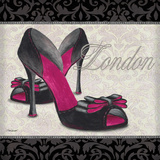 Pink Shoes Square I Posters by Todd Williams