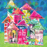 Row Houses II Affiches par Belinda Dworak