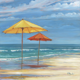 Umbrella Beachscape Sq. II Prints by Paul Brent