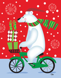 Polar Bear & Bicicle Posters by Woo Teresa