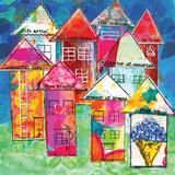 Row Houses I Posters by Belinda Dworak