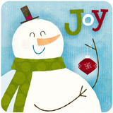 Joy Snowman Poster by Steve Mack