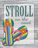 Stroll on the Sand Print by Williams Todd