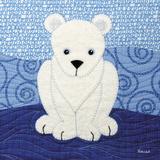 Polar Bear Prints by Betz White