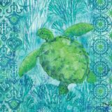Turtle Batik Sq Posters van Brent Paul
