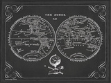 Zone World Map III Prints by Gwendolyn Babbitt