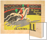 Shell Oil & Petrol Ad, Quick Starting Circus Horses, 1930 Wood Print by James Holland