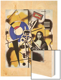 La joconde aux clefs, 1930 Wood Print by Fernand Leger