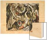 La nuit, 1918 Wood Print by Max Beckmann