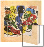 Les belles cyclistes, 1944 Wood Print by Fernand Leger