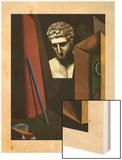 Melancolie hermetique, 1918 Wood Print by Giorgio De Chirico