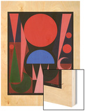 Paques, 1949 Wood Print by Auguste Herbin