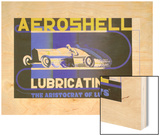 Aeroshell Lubricating Oil Ad, 1932 Wood Print by Edward McKnight Kauffer