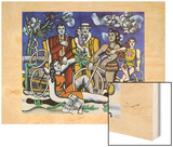 Les loisirs, 1948 Wood Print by Fernand Leger