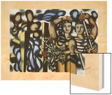 Adam et Eve, 1935 Wood Print by Fernand Leger