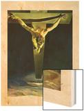 Le christ de St jean de la croix Wood Print by Salvador Dali