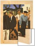 Les joueurs de boules, 1923 Wood Print by Auguste Herbin