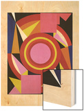 Diable, 1958 Wood Print by Auguste Herbin