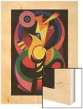 Symchromie en noir, 1939 Wood Print by Auguste Herbin