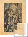 Violon et cruche 20eme Wood Print by Georges Braque