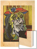 Feme qui pleure 20eme Wood Print by Pablo Picasso