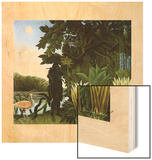 Charmeuse de serpents Wood Print by Henri Rousseau