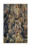 Violon et cruche 20eme Lærredstryk på blindramme af Georges Braque