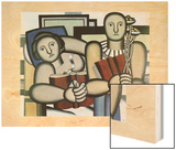 La lecture, 1924 Wood Print by Fernand Leger