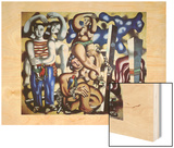 Composition aux deux p'rroquets, 1935 Wood Print by Fernand Leger