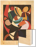 Composition, 1936 Wood Print by Auguste Herbin