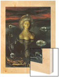 La fin du monde 194 Wood Print by Leonor Fini
