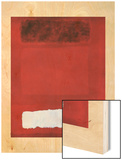 Rouge blan et brun 20eme Wood Print by Mark Rothko