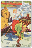 The Wizard of Oz - Characters on a Raft Blechschild