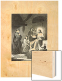 Christ and the Sisters of Bethany Wood Print