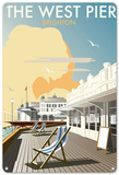 The West Pier, Brighton, East Sussex Tin Sign
