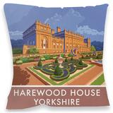 Harewood House, Yorkshire Cushion Throw Pillow