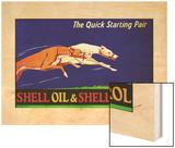 Shell Oil & Petrol Ad, Quick start, 1926 Wood Print by V.l. Danvers