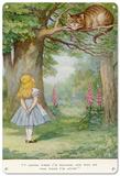Alice in Wonderland - Cheshire Cat Blechschild