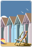 Beach Huts 2 Tin Sign