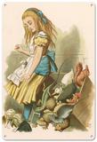 Alice in Wonderland - Alice Upsets the Jury-Box Blechschild
