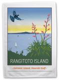 Rangitoto Island, New Zealand Tea Towel Novelty