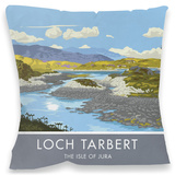 Loch Tarbert, Isle of Jura Cushion Throw Pillow